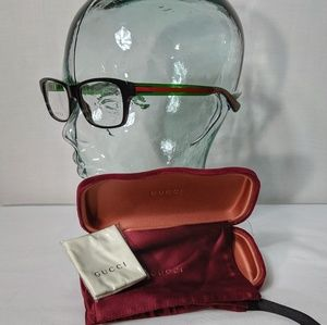 Auth. Gucci black green and red glasses